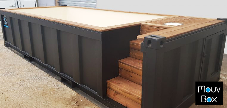 Piscine contenair Mouv Box