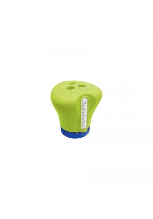 Doseur de chlore flottant avec thermomètre